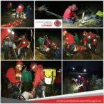 Equipo de rescate BOMBEROS CAYAMBE